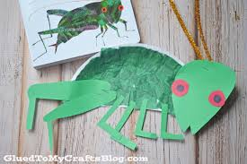 eric carle paper plate cricket kid craft glued to my crafts