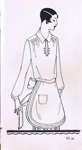 1920s apron history