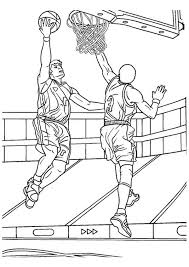 Basketball Player Coloring Pages Getcoloringpages Com Basketball Color Page