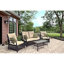 amazon com sol siesta clubhouse collection 4 piece conversation