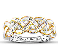 6 mothers ring our family is united by diamond ring with names diamond