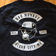 Bad Monkey Bad Monkey Biker Patch Short Sleeve T Shirt U2013 Bad Monkey Oc