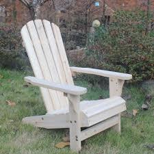 songsen outdoor log wood adirondack lounge chair patio deck garden
