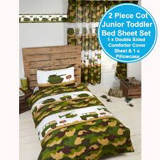 Camouflage Sheet Set Army Camp Camouflage Duvet Covers Bedding Matching Curtains