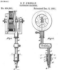 tatovering machine samuel f o u0027reilly oppdragstakeren patent