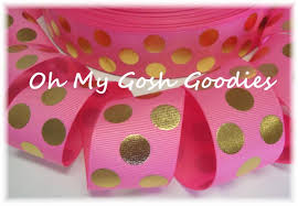 pink polka dot ribbon polka dots polka dot ribbon metallic dot ribbon foil dot ribbon
