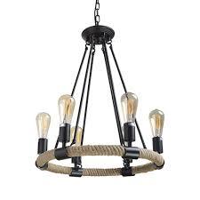 lnc rustic chandeliers 6 light pendant lighting chandelier