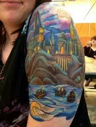 harry potter sleeve tattoo pictures to pin on pinterest tattooskid