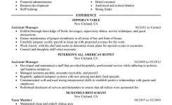Resume Template Restaurant Manager Retail Store Manager Resume Examples Resume Example And Free