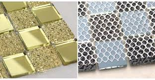Mirrored Wall Tiles Wholesale Mirror Tile Backsplash Gold Vitreous Glass Mosaic Wall