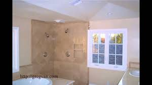 bathroom tile shower designs window location wood trim and shower tile design problems