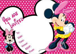 free minnie mouse birthday invitations templates minnie mouse