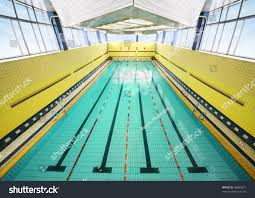 large indoor swimming pool four bowling stock photo 78683971