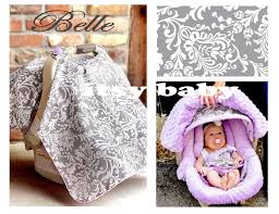 Pink Car Seat Canopy by 100 Organic Cotton Newborn Infant Head Body Car Baby Seat Support