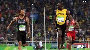 Track Memes - usain bolt andre de grasse 200m laughs spark more olympic memes