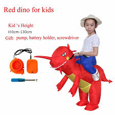 Rex Halloween Costumes Rex Inflatable Battery Operated Dinosaur Costume Kids