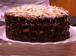 bobby flay u0027s decadent german chocolate cake cbs news