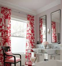 agreeable white bathroom with fascinating red floral accents bathroom agreeable white bathroom with fascinating red floral accents curtain pattern near duo vanity using