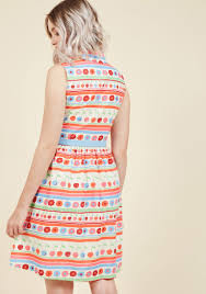 fits the function shirt dress in vibrant stripes modcloth