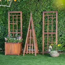 Arbors And Trellises Coral Coast Halstead Wood Planter Trellis Hayneedle