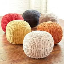 knitted pouf ottoman target braided pouf ottoman knitted pouf ottoman knit blue braided storage