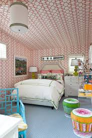 Traditional Home Bedrooms - kids room with wallpaper on ceiling contemporary u0027s room