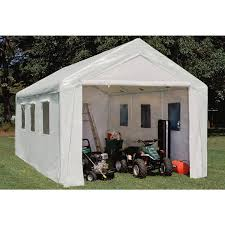 10 X 20 Shade Canopy by 10x20 U0027 Hercules Snow Load Canopy Shelter Garage White 150179