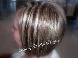 blonde hair with chunky highlights cute bob cut chunky highlights lowlights blonde red brown hair