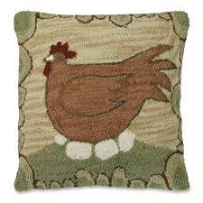 hen u0026 eggs country style throw pillow sturbridge yankee workshop