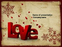 christmas love free powerpoint template backgrounds 04198