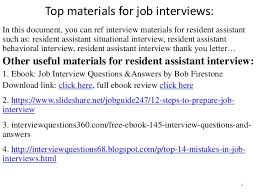 top 52 resident assistant interview questions and answers pdf