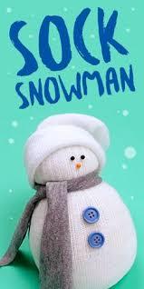 here is a sock snowman made using white socks elastic bands