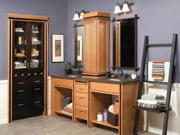 Bathroom Countertop Storage Cabinets Fancy Bathroom Vanities With Towers Attached Using Wood Linen