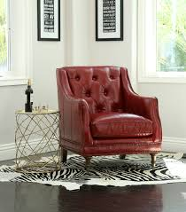 Red Leather Chair Chairs Nixon Leather Chair Burnt Red