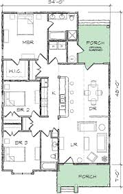 narrow lot bungalow house plan 10035tt architectural designs