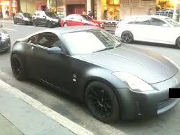 Nissan Gtr 350z - matte black nissan 350z spotted by nissangtrfan on deviantart