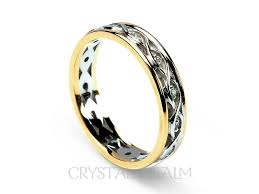 celtic wedding ring celtic wedding ring women s ribbon weave band 14k white and