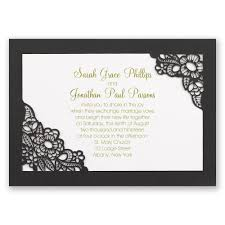 black and ivory wedding invitations laser cut wedding invitations invitations by dawn