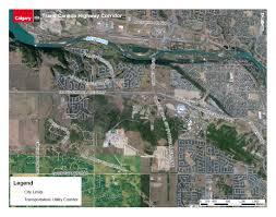 Trans Canada Highway Map by The City Of Calgary Calgary West Trans Canada Corridor Study