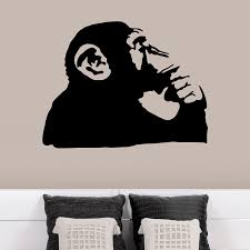 banksy thinking monkey wall decals banksy wall decals and monkey