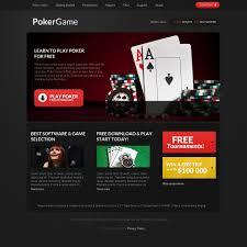 Home Design Games Online For Free Online Poker Responsive Website Template 37980