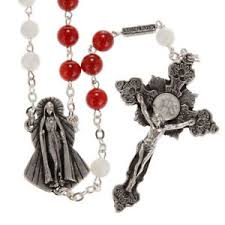 sacred heart rosary ghirelli rosary agate and of pearl sacred heart and merc