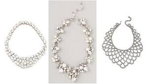 statement necklace white images 6 styles of statement necklaces for modern brides jpg