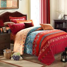 Rust Comforter Set Rust Coloured Quilt Covers Rust Brown Duvet Cover 7 Piece Annasy