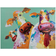 compare prices on yosemite home decor paintings online shopping yosemite home decor artac0583c curious cows acrylic painting china