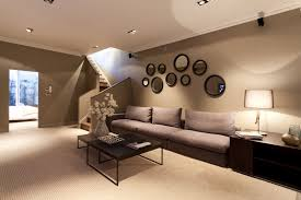 wall painting ideas brown modern interior design inspiration