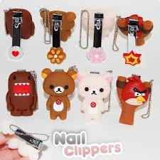 kawaii nail clipper keychain
