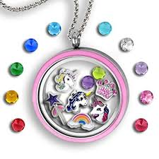 charm locket necklace images Unicorn necklace for girls unicorn gifts for women jpg
