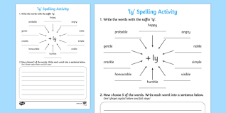 ly u0027 spelling activity activities spellings spell