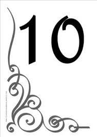 free table numbers free diy printable wedding reception table